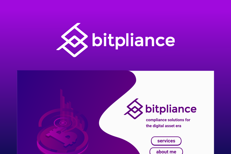 Logo and landing page design for Bitpliance. Designed by Johnery