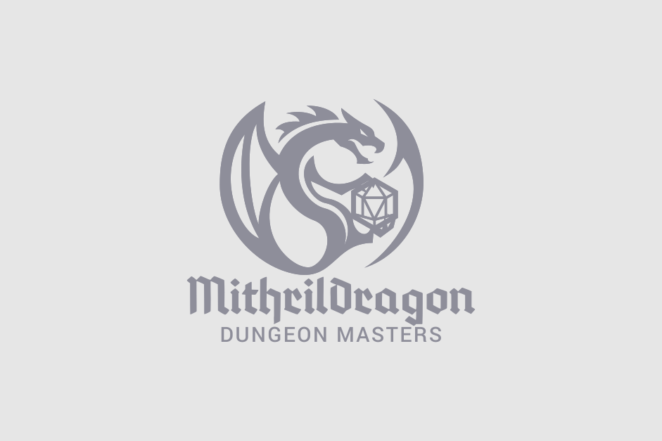 Logo design for Mithril Dragon Dungeon Masters. Designed by Johnery