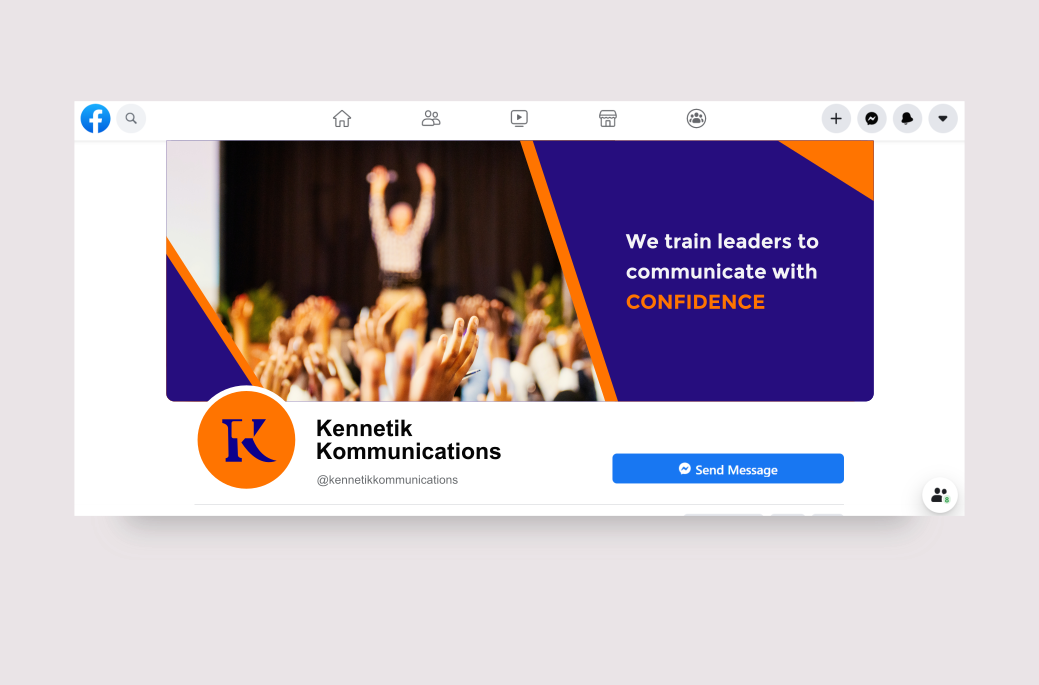 Facebook banner design for Kennetik Kommunications. Designed by Johnery