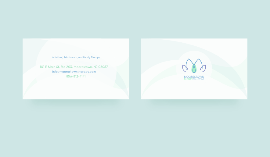 Business card design for Moorestown Therapy Collective. Designed by Johnery